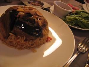 eggplant on rice