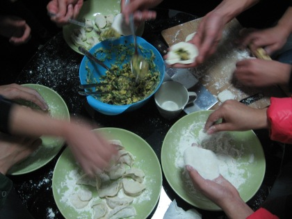 jiaozi party with students