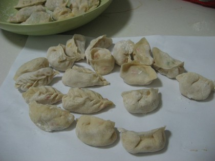 various jiaozi shapes