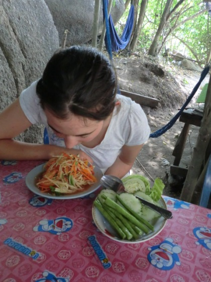 Molly's green papaya salad