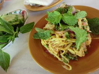 fermented bamboo salad