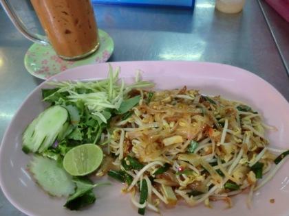 pad thai at Bangkok's Jattujak (JJ) weekend market