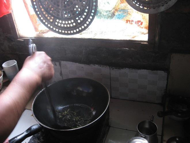 frying tea