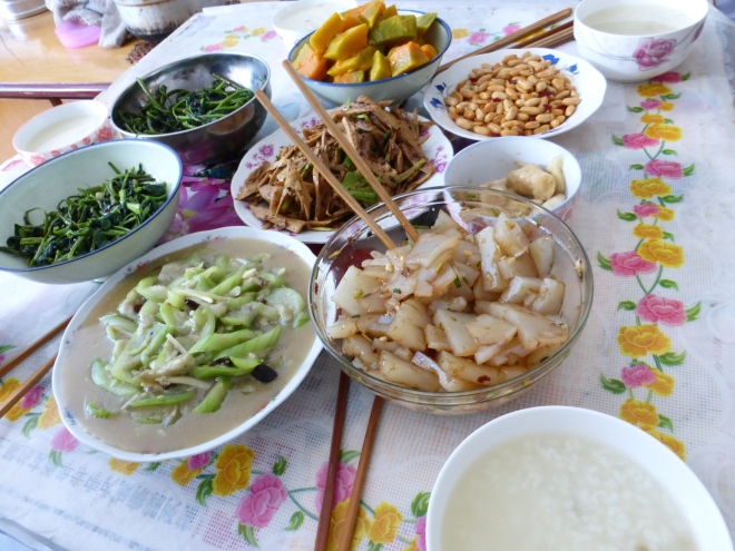Grandma's lunch table