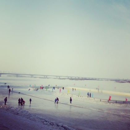 ice rink on the Songhua River
