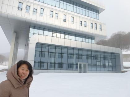Michelle at Harbin's seminary
