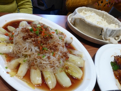 braised cabbage with noodles and garlic