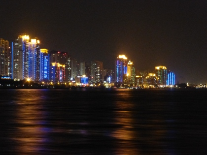 Wenzhou skyline at night